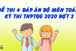 Đề Thi + Đáp Án Môn Toán Kỳ Thi THPTQG 2020 Đợt 2