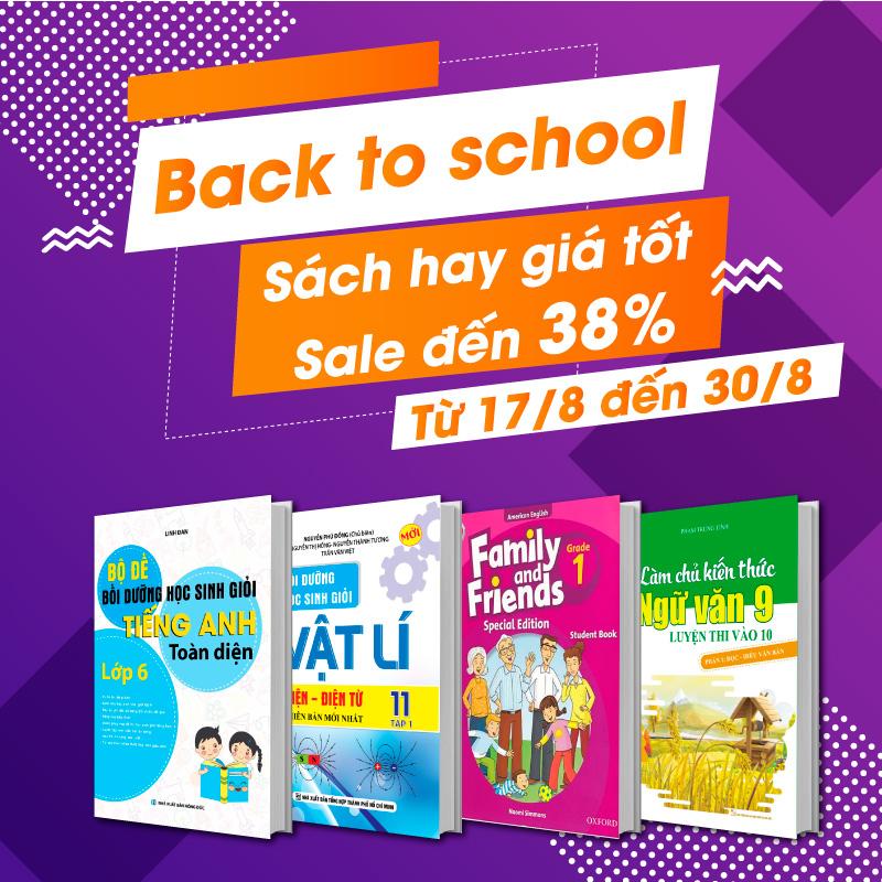 Back To School - Tuần lễ vàng - Ngàn ưu đãi mừng năm học mới cùng Newshop.vn