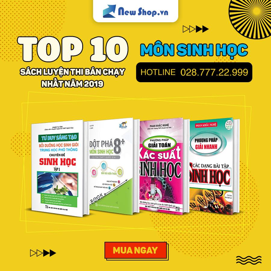 Top 10 Cuốn Sách Luyện Thi Sinh Học Bán Chạy Nhất 2019 Tại Newshop