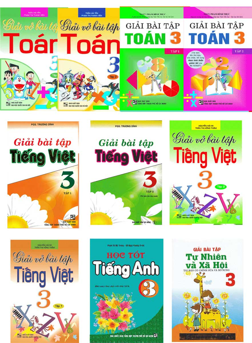 Combo Sách Giải Lớp 3 (10 Cuốn)