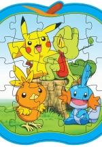Bộ Tranh Lắp Ghép Trái Cây - Bé Tự Tô Màu 29 (Pikachu Pokémon)