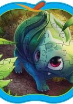 Bộ Tranh Lắp Ghép Trái Cây - Bé Tự Tô Màu 26 (Bulbasaur Pokémon)
