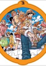 Bộ Tranh Lắp Ghép Trái Cây - Bé Tự Tô Màu 27 (Đảo Hải Tặc - One Piece)