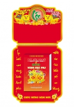 Lịch Bloc Đại 2019 (14,5x20,5cm)  - Vàng Bạc PNJ (Nguyên Bộ Nẹp - Hộp - Bao) - KV10