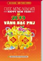 Lịch Bloc Đại 2019 (14,5x20,5cm) - Vàng Bạc PNJ - KV10