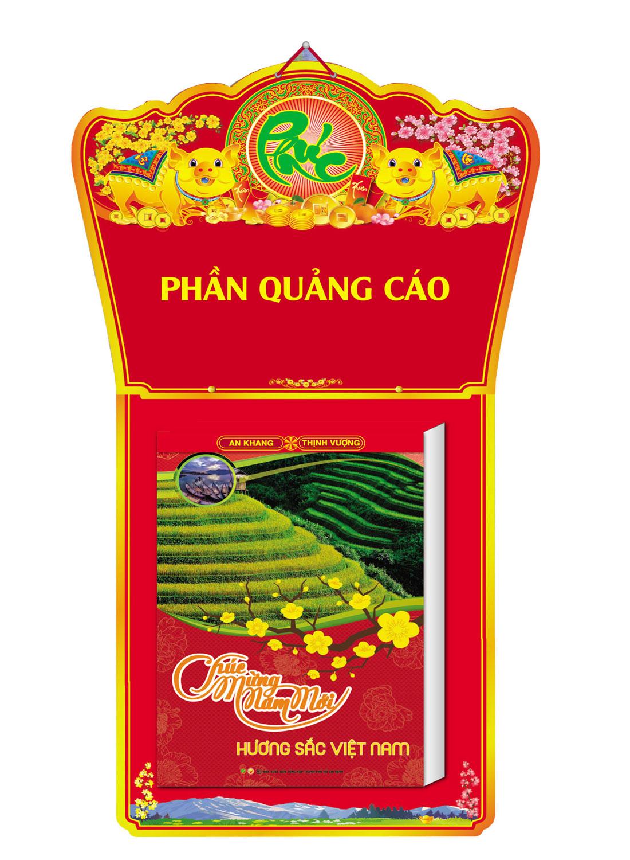Lịch Bloc Cực Đại 2019 (20x30cm) - Hương Sắc Việt Nam - KV04