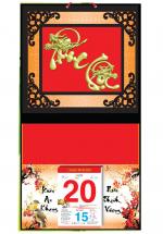 Bìa Treo Lịch 2019 Metalize Ép Kim Cao Cấp 7 Màu (32,5 x 65 cm) - Dán Nổi Chữ Phúc Lộc Đầu Rồng - KV56
