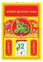 Bìa Treo Lịch 2019 Đỏ Dán Chữ Nổi ( 40x60 cm ) - Dán Nổi Chữ Lộc Cẩm Thạch - KV473