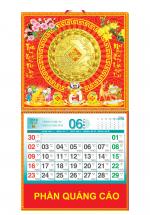 Bìa Treo Lịch 2019 Lò Xo Giữa Bế Nổi (37 x 68 cm) - Dán Nổi Hình Đồng Tiền Vàng - KV401