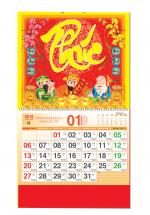 Bìa Treo Lịch 2019 Lò Xo Giữa Bế Nổi ( 37 x 68cm ) - Bìa Chữ Phúc - KV334