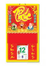 Bìa Treo Lịch 2019 Lò Xo Giữa Bế Nổi ( 37 x 68cm ) - Bìa Chữ Phúc - KV330