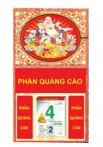 Bìa Treo Lịch 2019 Lò Xo Giữa Dán Nổi Khung Hình (37x68 cm)- Bế Nổi Hình Phật Di Lặc - KV322