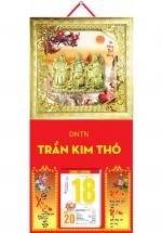 Bìa Treo Lịch 2019 Metalize Ép Kim Cao Cấp 7 Màu ( 35 x 70 cm ) - Mẫu Khung Vàng - Dán Nổi Phúc - Lộc - Thọ - K138