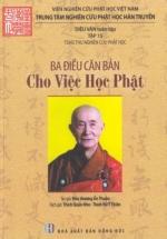 Ba Điều Căn Bản Cho Việc Học Phật