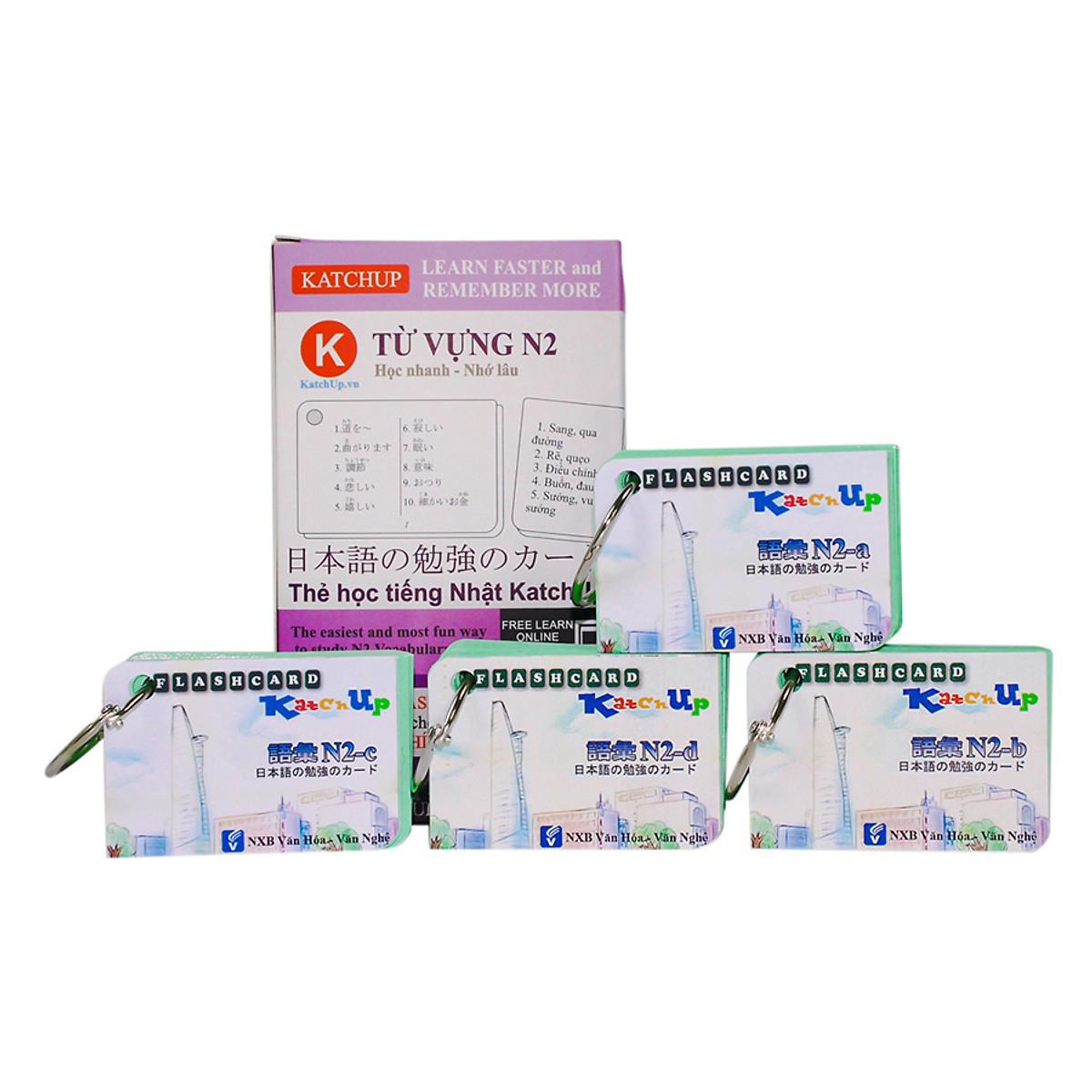 Bộ KatchUp Flashcard Từ Vựng N2 (Soumatome N2) - High Quality