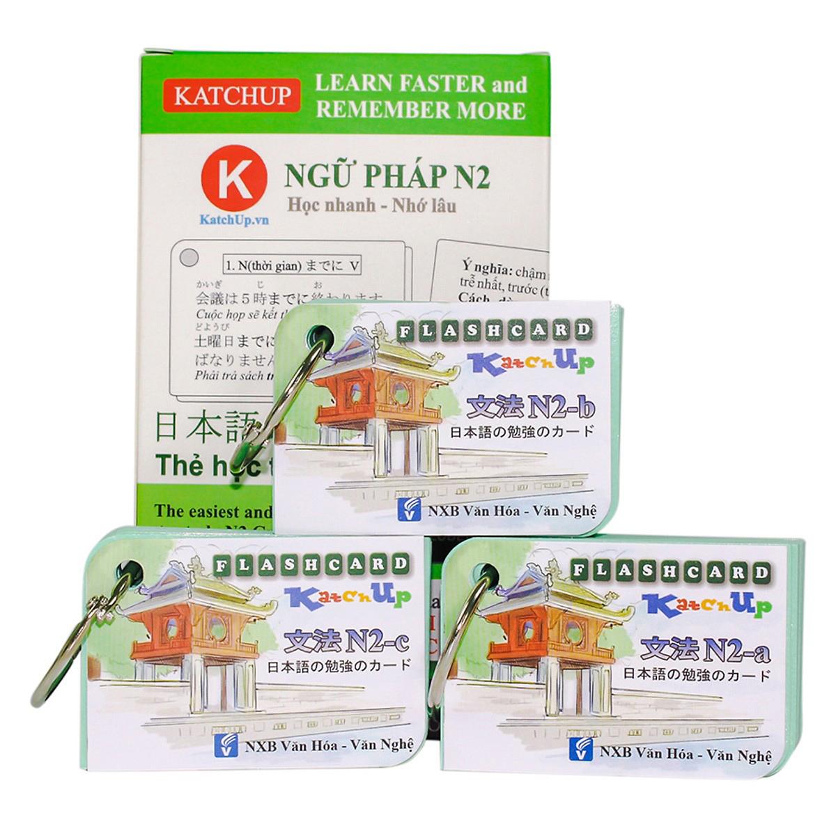 Bộ KatchUp Flashcard Ngữ Pháp N2 (Soumatome N2) - High Quality