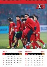 Lịch Bóng Đá Đội Tuyển Việt Nam 2019 (Lịch Treo Tường)
