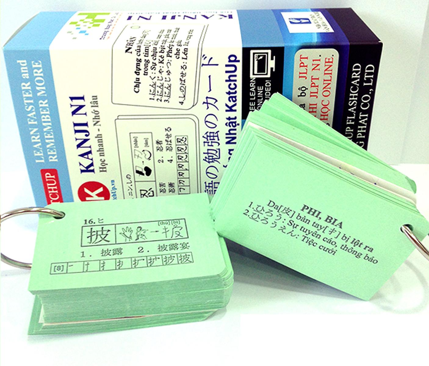 Combo Trọn Bộ KatchUp Flashcard Cao Cấp Tiếng Nhật N1 – High Quality