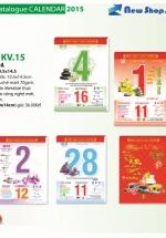 Bloc Lịch Xuân 2015 Trung Màu - Hoa Đá 1 (10.5 x 14.5cm)