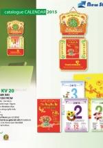 Bloc Lịch Xuân 2015 Hoa Ban Mai (12 x 19cm)  + Bộ Lò Xo 1