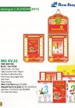 Bloc Lịch Xuân 2015 Hoa Ban Mai (12 x 19cm)  + Bộ Lò Xo 7