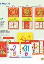 Bloc Lịch Xuân 2015 Sắc Hoa (14.5 x 20cm) + Bộ Lò Xo 4