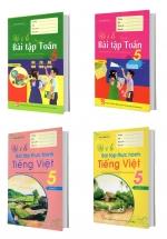 Combo Vở Ô Li Bài Tập Toán - Tiếng Việt Lớp 5 (4 Quyển)