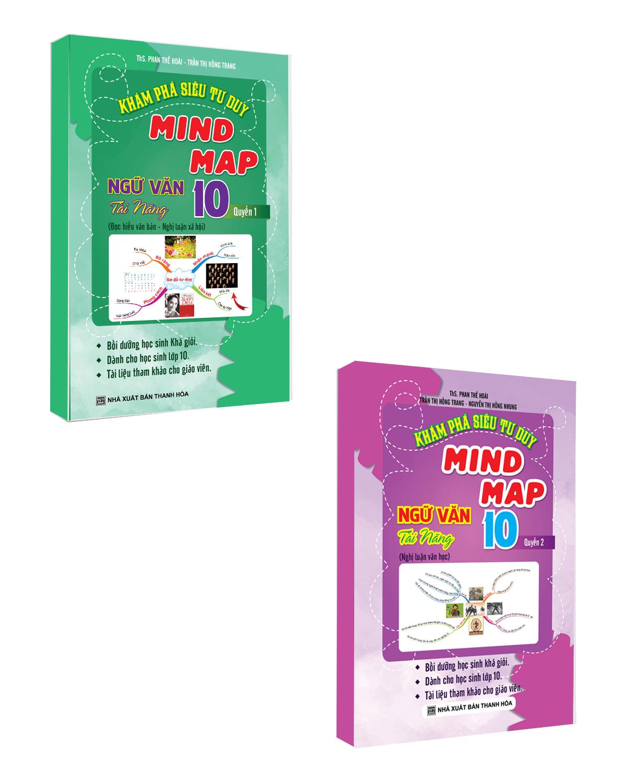 Combo Khám Phá Siêu Tư Duy Mind Map Ngữ Văn Tài Năng 10