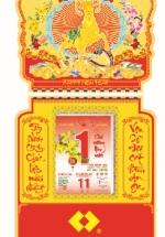 Bloc Lịch Xuân 2015 Hoa Ban Mai (12 x 19cm)  + Bộ Lò Xo 8