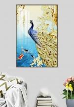 Tranh Treo Tường Chim Công Và Cá Chép (40x60 cm)