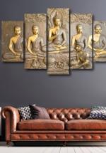 Bộ Tranh Treo Tường Đức Phật Và Các Đệ Tử