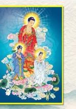 Tranh Treo Tường Tam Thế Phật Tiếp Độ (40x60 cm)