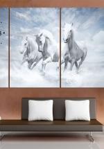 Tranh Đồng Hồ Đàn Ngựa 6 (40x25x3cm)