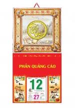 Bìa Khung Lịch 2020 Metalize Cao Cấp (35x70 cm) - Mẫu Khung Cao Cấp 4 Màu Mạ Vàng - Dán Nổi Chữ Tết Việt - NS71