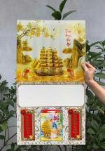 Bìa Treo Lịch Lò Xo Giữa Bế Nổi (37x68cm) Gắn Bloc Lịch 2020 (14.5x20.5 cm) - NS105 (Đã Bao Gồm Bloc)