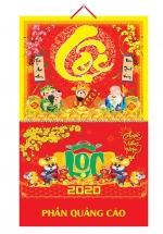 Bìa Treo Lịch Lò Xo Giữa Bế Nổi (37x68cm) Gắn Bộ Số 2020 - NS107