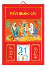 Bìa Treo Lịch Chiết Quang Điển Hình (35x50cm) Gắn Bloc Lịch 2020 - NS207