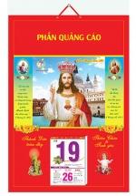 Bìa Treo Lịch Công Giáo (40x60cm) Gắn Bloc Lịch - NS201