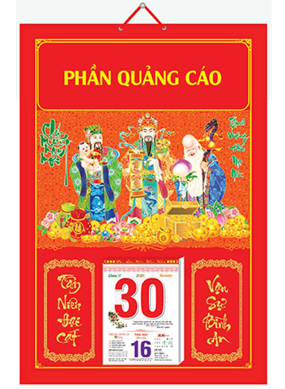 Bìa Treo Lịch Chiết Quang Điển Hình (40x60cm) Gắn Bloc Lịch 2020 - NS198