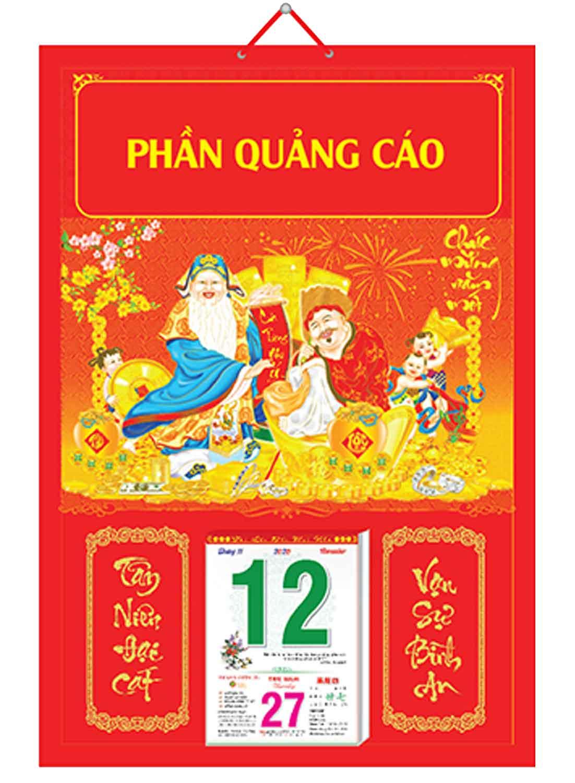 Bìa Treo Lịch Chiết Quang Điển Hình (40x60cm) Gắn Bloc Lịch 2020 - NS194
