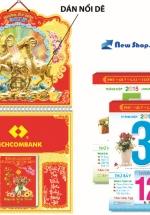 Bloc Lịch Xuân 2015 Sắc Hoa (14.5 x 20cm) + Bộ Lò Xo 10
