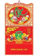 Bìa Treo Lịch Lò Xo Giữa Dán Nổi Khung Hình (37x68 cm) Gắn Bộ Số 2020 - NS162