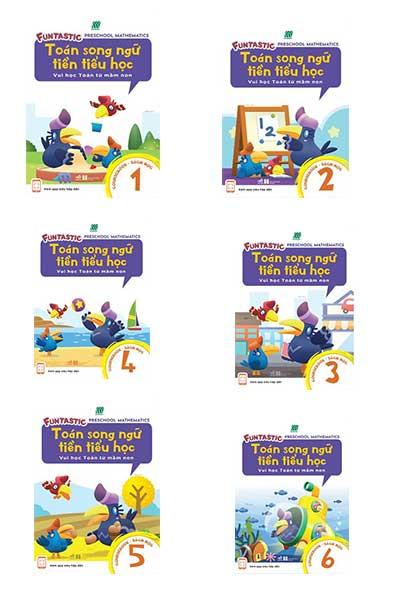Combo 6 cuốn Sách Toán Song Ngữ Tiền Tiểu Học - Sách Học