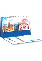 Lịch Để Bàn Chữ A 2020 (25x12 Cm) Có Note - Những Thành Phố Xinh Đẹp - NS26