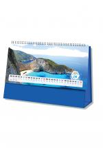 Lịch Để Bàn Chữ A 2020 (25x12 Cm) Không Note - Sắc Xanh Biển Đảo - NS25