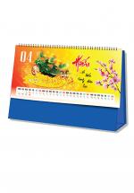 Lịch Để Bàn Chữ A 2020 (25x12 Cm) Không Note - Phong Thủy Tài Lộc - NS24