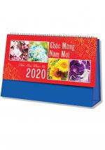 Lịch Để Bàn Chữ A 2020 (25x12 Cm) Không Note - 4 Mùa Khoe Sắc - NS19