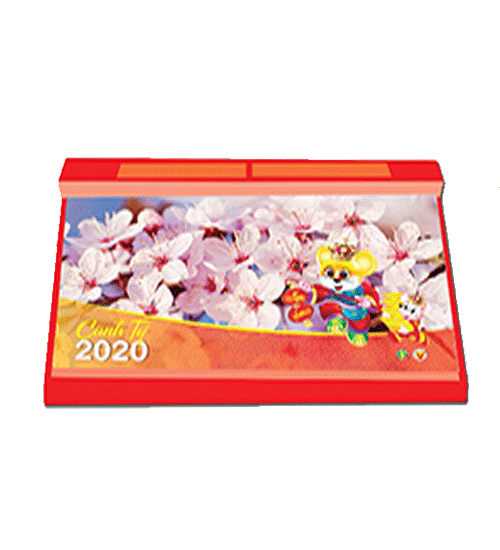 Lịch Để Bàn 2020 52 Tuần Đế Nhựa (14x27 cm) - Phong Cảnh Việt Nam - NS17
