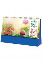 Lịch Để Bàn Chữ A 2020 (25x12 Cm) Không Có Note - Hồn Sen Việt - NS18
