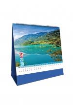 Lịch Để Bàn Chữ A 2020 (17x19 cm) - Thiên Nhiên Diệu Kỳ - NS35